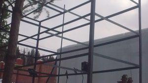 монтаж и установка стеллажей сварка
